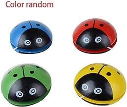 Heaviesk Cute Animal De Madera Yoyo Juguetes Ladybug Portátil Impresión Yoyo Ball para Niños Desarrollo De Coordinación Mano-Ojo