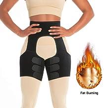ANCROWN Thigh Trimmer, Neoprene High Waist Thigh Trainer and Butt Lifter, Hip Enhancer Fitness Slimming Body Shaper Girdle Belt, Sweat Wrap with Sauna Effect