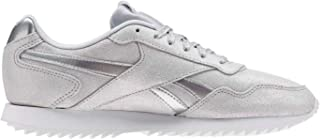 Official Reebok Glide Ripple Trainers Womens Silver/White Athleisure Sneakers Shoes