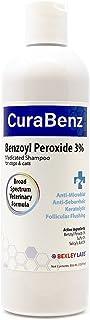 BEXLEY LABS Curaseb Benzoyl Peroxide Dog Shampoo – Treats Mange, Demodex, Dandruff, Seborrhea, Pyoderma, Mites & Acne – Broad Spectrum Veterinary Formula