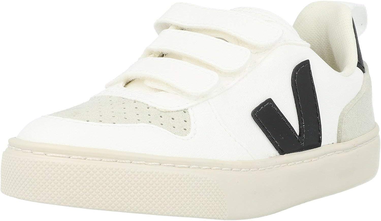 Veja V-10 Velcro (Little Kid/Big Kid) White/Black 30 (US 12.5 Little Kid) M