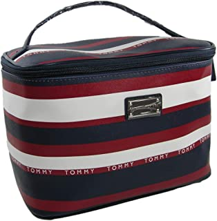 New Tommy Hilfiger Logo Cosmetics Make-up Bag Train Case Travel Red White Blue