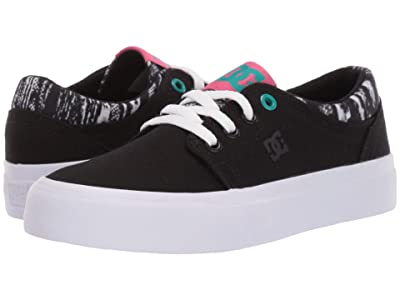 DC Kids Trase TX SE (Little Kid/Big Kid) (Black/Aqua) Girls Shoes