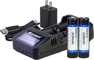 【日本製セル KEEPPOWER 3120mAh Series-R 保護回路付き高出力バッテリー】ハイパワーフラッシュライト用 (L2充電器+2本セット)