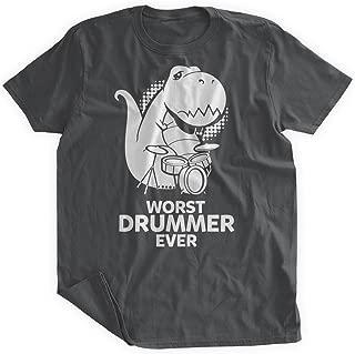 BumpCovers Worst Drummer Ever Dinosaur T-Shirt