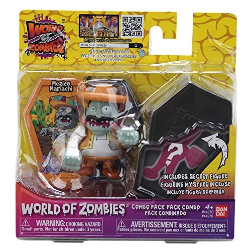 World of Zombies Zombies-44276 Pack de Dos Mezico Mariachi y Figura Sorpresa (Bandai 44276), Multicolor