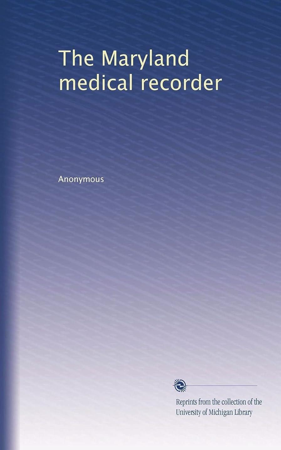 戦い戸惑うわずらわしいThe Maryland medical recorder (Vol.2)