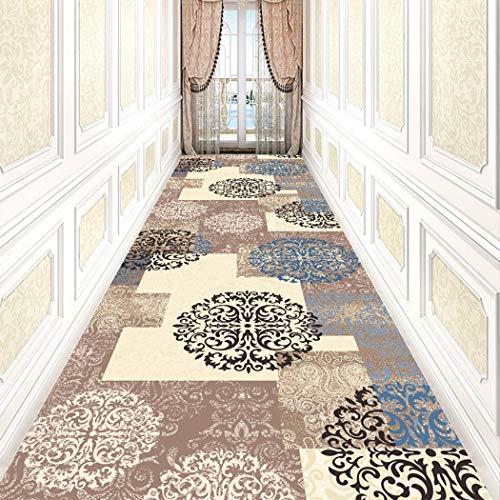 Jjzhb Pasilleros Alfombras Larga,Escaleras Largo A La Medida De La Alfombra, Textura Suave Y Fácil De Limpiar, Estas Alfombras Son Un Diseño Moderno De La Serie (Color : B, Size : 400x80CM)