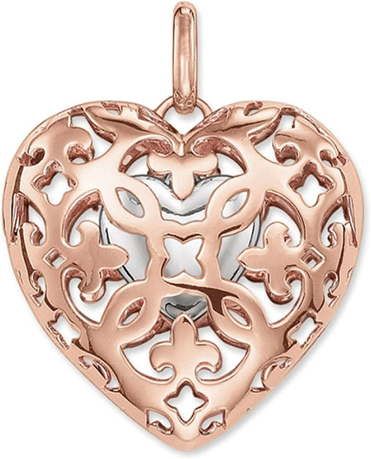 Pendant Heart Locket 925 Sterling online shopping Color Rose 25% OFF Gold Jewelry Silver