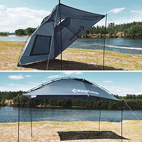 KingCampカーサイドタープ単体使用可能アウトドアキャンプテント車用収納袋付き軽量