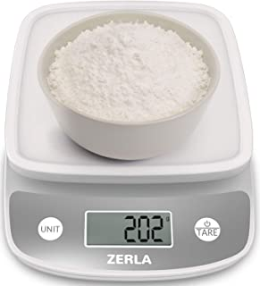Digital Kitchen Scale by ZERLA, Multifunction Food Scale with Range from 0.04oz to 11lbs, White