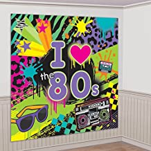 80's Party Scene Setters Wall Decorating Kit