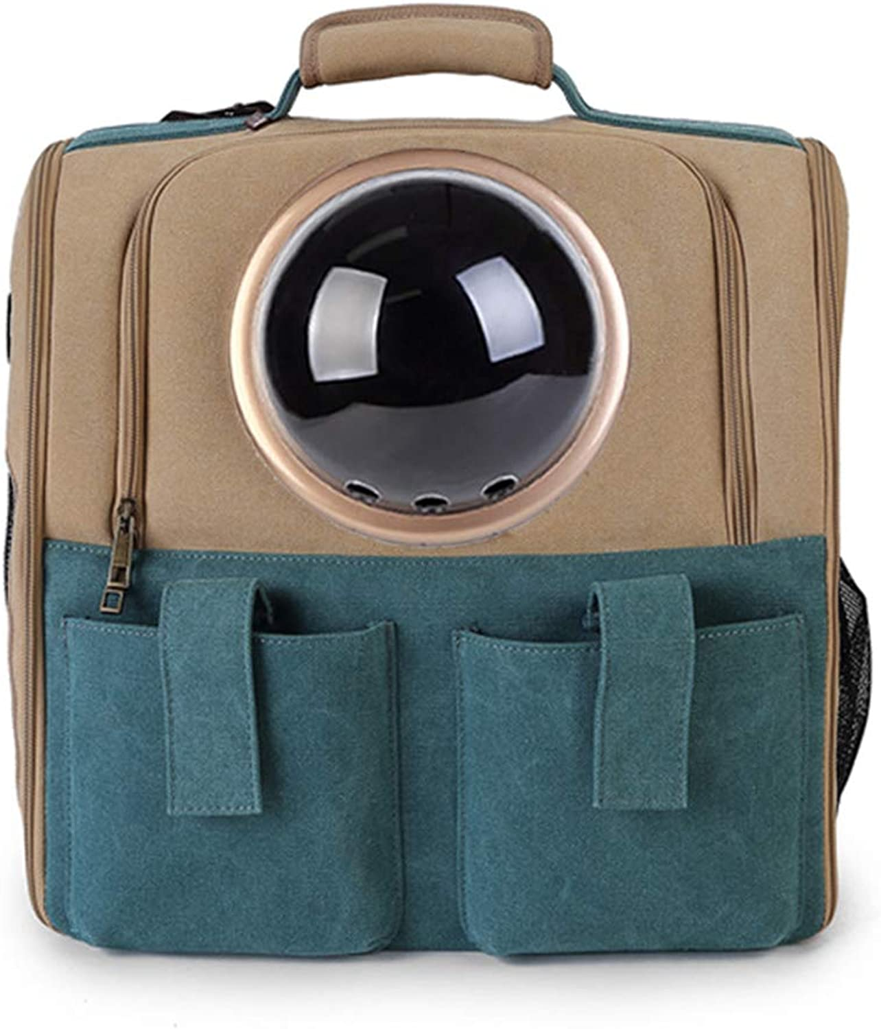 Pet Carrier Backpack with Space Capsules Breathable for Pets, Cats, Dogs, Puppies, Travel, Dogs, Cats, Backpack with Bubbles, Design of Space Capsules Approved by Airlines