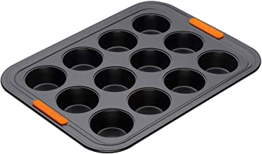 LE CREUSET 94101300000000 Le Creuset Toughened Non-Stick Bakeware 12 Cup Mini Muffin Tray, Carbon