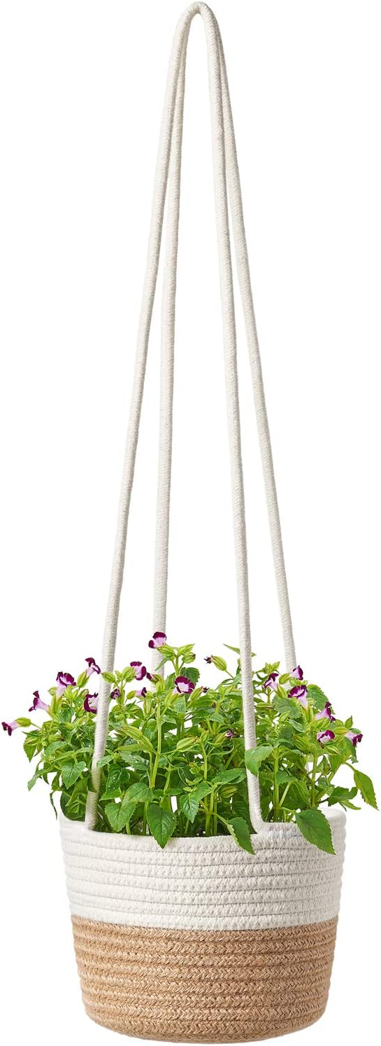 National uniform free shipping Ranking TOP15 Dahey Hanging Planter Rope Woven wit Basket Plant