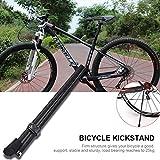 Alomejor Fahrrad Ständer Kohlefaser Einstellbare Fahrradständer Rückseite rutschfeste Seitenständer für Mountainbike Rennrad