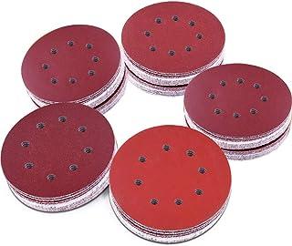AUSTOR 100 Pieces 8 Holes Sanding Discs, 5 Inch Hook and Loop 1000/1200/ 1500/2000/ 3000 Grit Sandpaper Assortment for Ran...