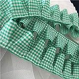 ADAFA 4 cm de ancho tela plisada de tul encaje con volantes borde de cinta para el cuello apliques cortina de sofá bricolaje costura Guipure suministros, ver la imagen