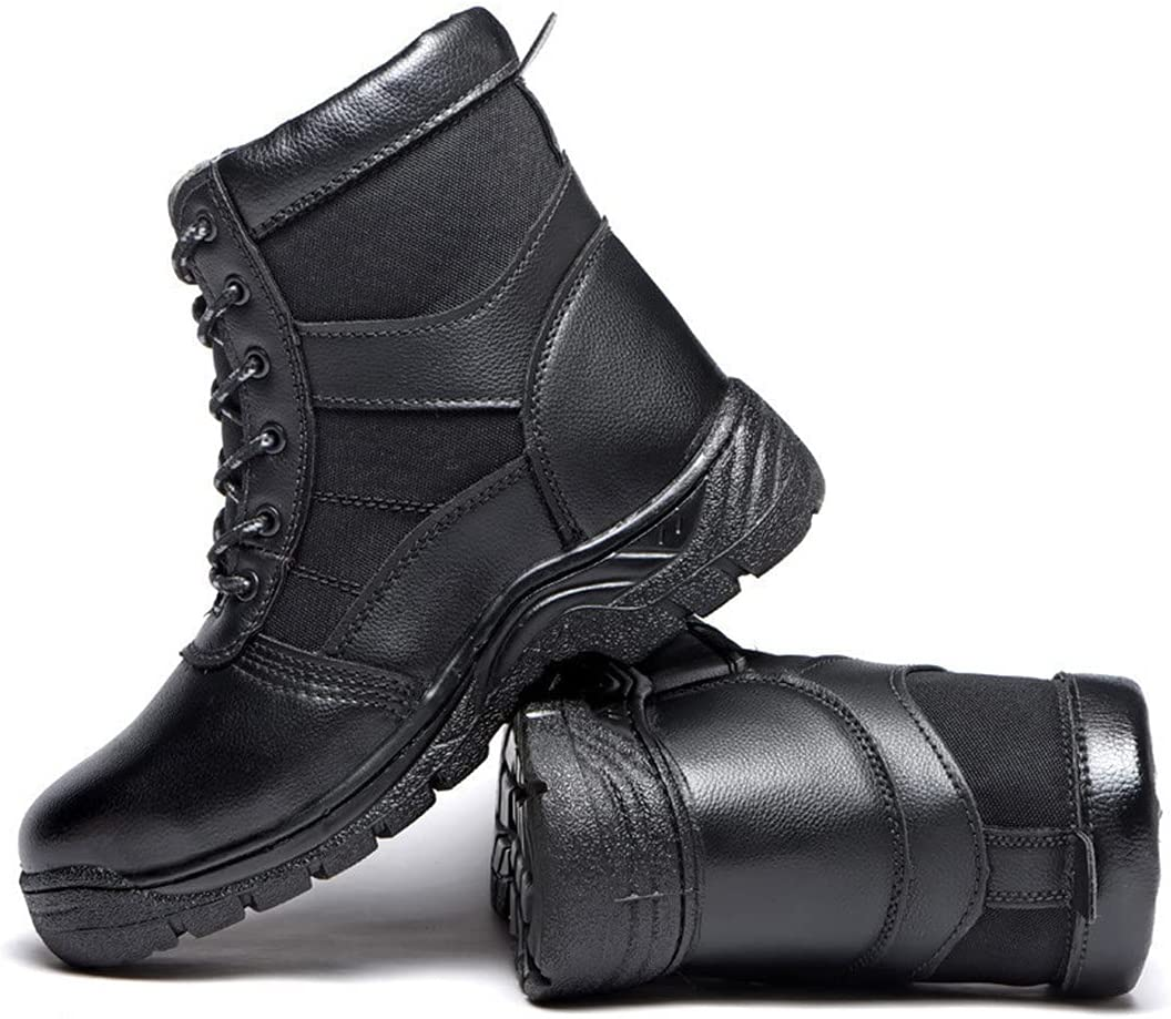 AS&ONEER Outdoor Steel Toe Safety Shoes Snow Boots Men Shoes Anti-Smashing Anti-Piercing Work Shoes Leather Boots 2 5.5