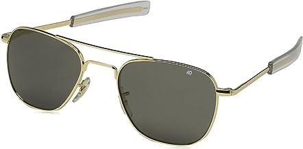 Authentic AO Eyewear 23K Gold Frame Bayonet Temple True Color Grey Glass Lens Sunglasses USMC USAF USN