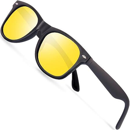 Rainbow Safety Auto Brille Nachtsichtbrille Nachtfahrbrille Kontrastbrille Blaulicht Schutz Blendschutz Polarisierte Gläser Rwn1pblk Schwarz Sport Freizeit