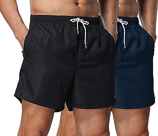NITAGUT Men's Swimwear Running Shorts Swim Trunks Quick Dry Lightweight with Pocket