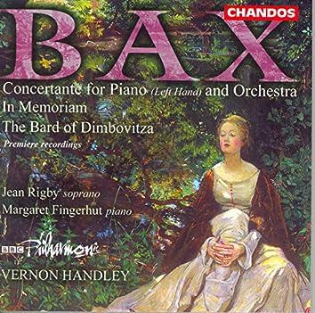 Bax: In Memoriam / Concertante for Piano Left Hand / the Bard of the Dimbovitza
