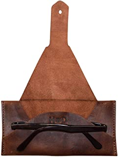 Hide & Drink, Leather Sunglasses Protector/Case/Pouch/Eyewear/Traveling/Outdoors Essentials, Handmade Includes 101 Year Warranty :: Bourbon Brown