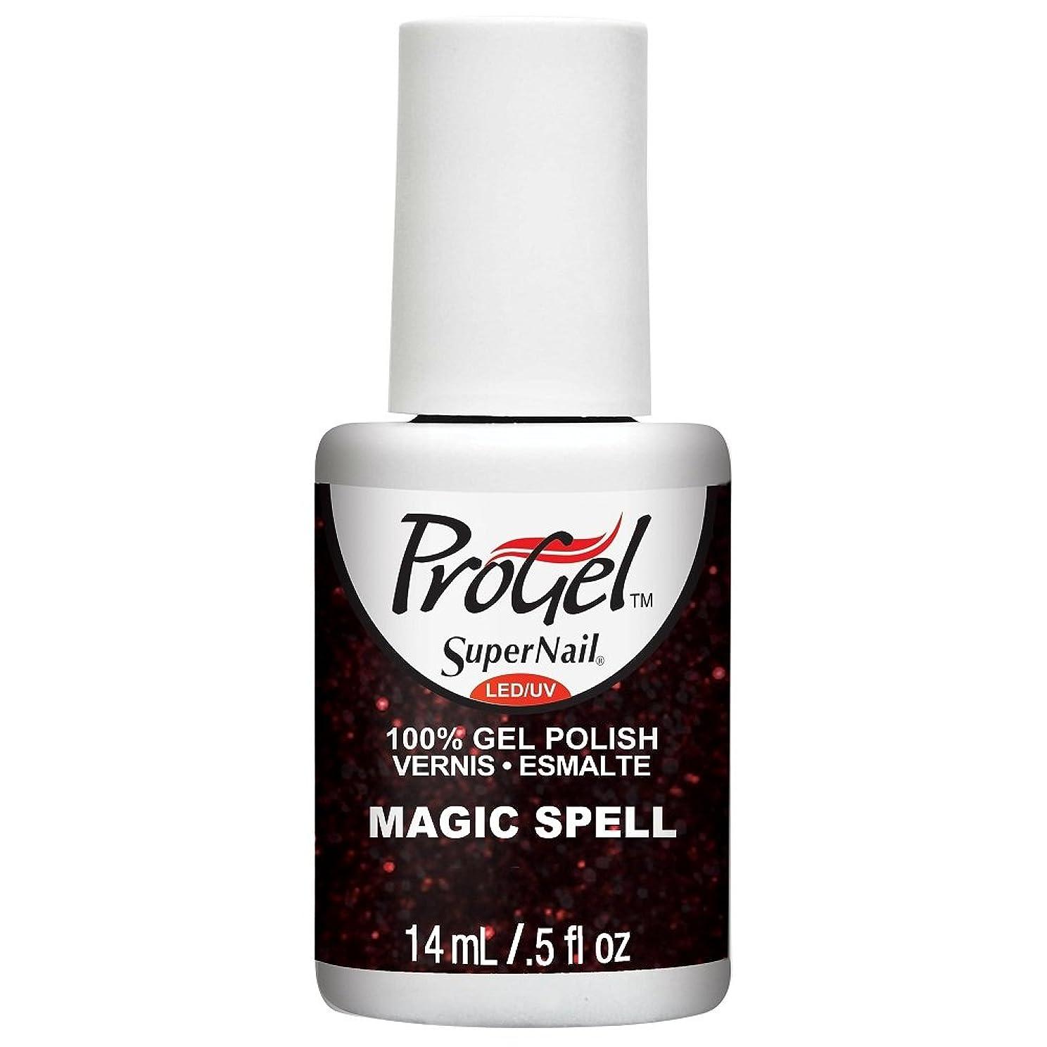 絵倍増混乱SuperNail ProGel Gel Polish - Magic Spell - 0.5oz / 14ml