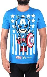 Tokidoki Marvel Captain America Mens Blue T-Shirt Tee
