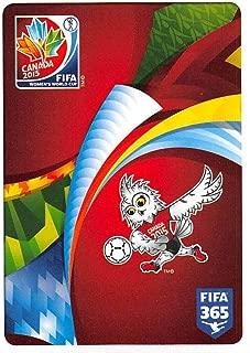 2015-16 Panini FIFA 365 Stickers Soccer #12 Logo FIFA Women s World Cup Canada 2015 Trading Card Sized Album Sticker