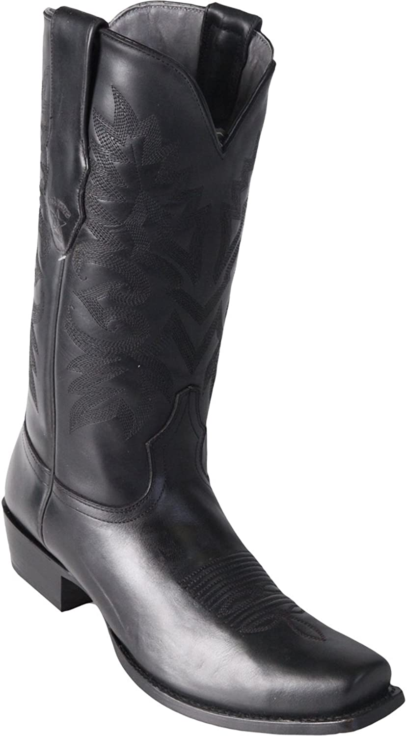 Los Altos boots Original Black Leather Square-Toe Boot