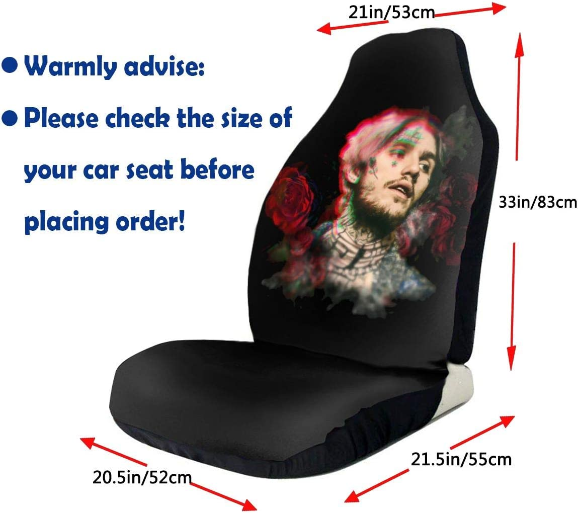 Flat-Type Universal Car Seat Cover Theshy Hip-Hop Rap Lil Peep Car Seat Cover Front and Rear