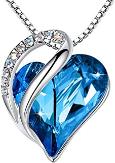 Leafael Infinity Love Heart Pendant Necklace with...