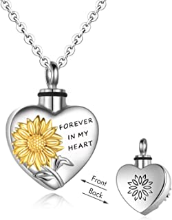 Urn Necklaces for Ashes Sterling Silver for Women Men, Tree of Life Cremation Jewelry for Ashes,Always in My Heart Memory Necklace Gift, Easter Keepsake for Women