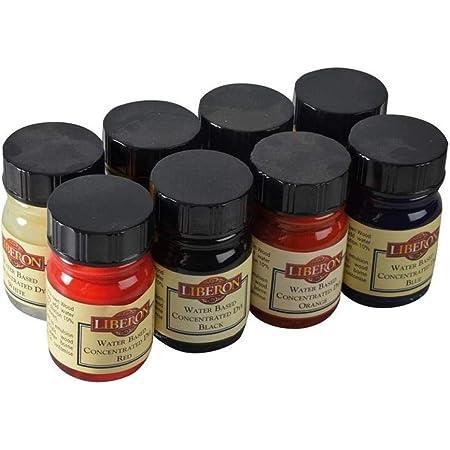 Liberon WBDASS - Tintes concentrados al agua (15 ml, 8 unidades), 8 colores diferentes