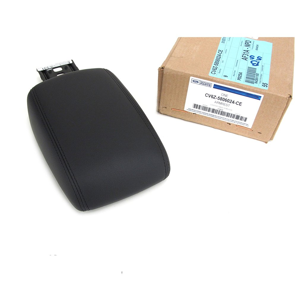 2012-2014 Ford Focus Black Center Console Leather Armrest Pad Cover Lid OEM NEW
