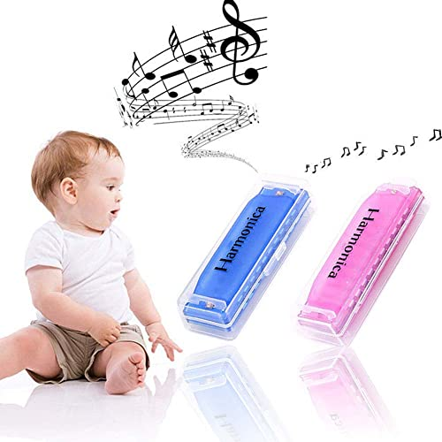Koogel 2 PCS Translucent Kids Harmonica,10 Hole Children Harmonicas Educational Toys for Beginners Kids Party Holiday...