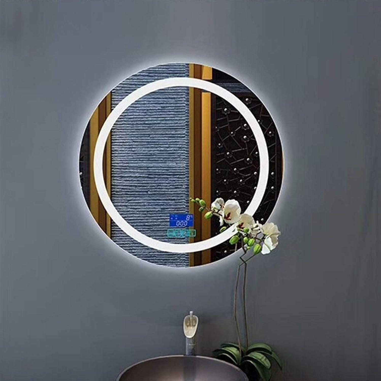 HELIn Wall Mounted Bathroom Mirror Illuminated LED Bathroom Mirror Light with Sensor Frameless Intelligent Anti-Fog Mirror