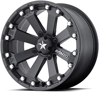 MSA OFFROAD WHEELS M20 KORE Satin Black Wheel with Painted and Chromium (hexavalent compounds) (14 x 7. inches /4 x 86 mm, -52 mm Offset)