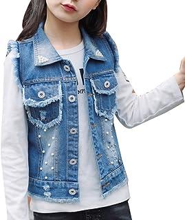 Amazon Fr Veste En Jean Sans Manche Fille Vêtements