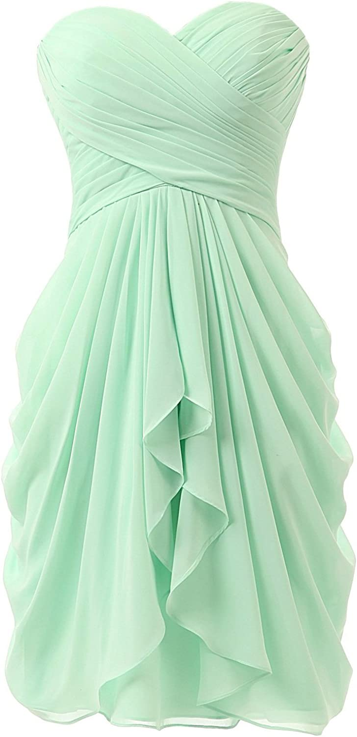 Dasior Women's KneeLength Bridesmaid Dress Prom Homecoming Party Gown