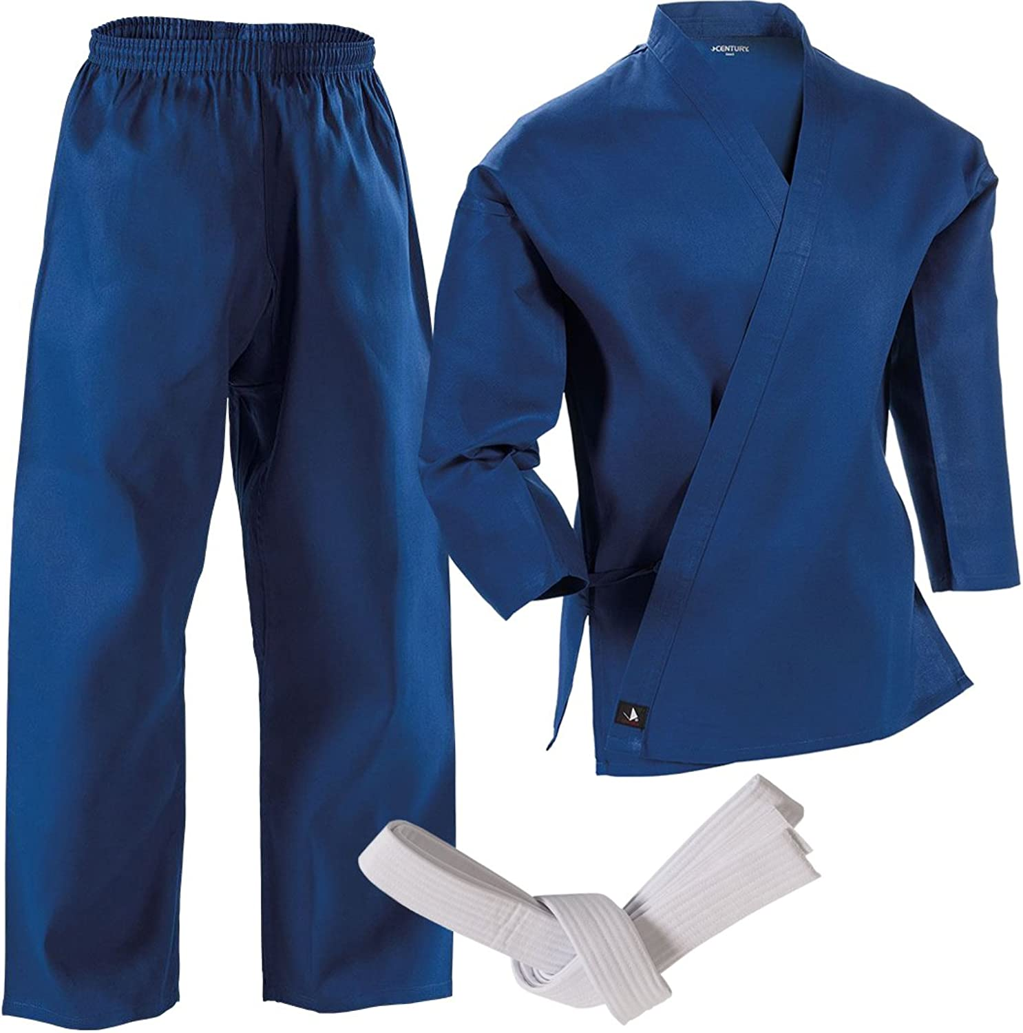 (5Adult Large, blueee)  Century Martial Arts Middleweight Student Uniform with Elastic Pant