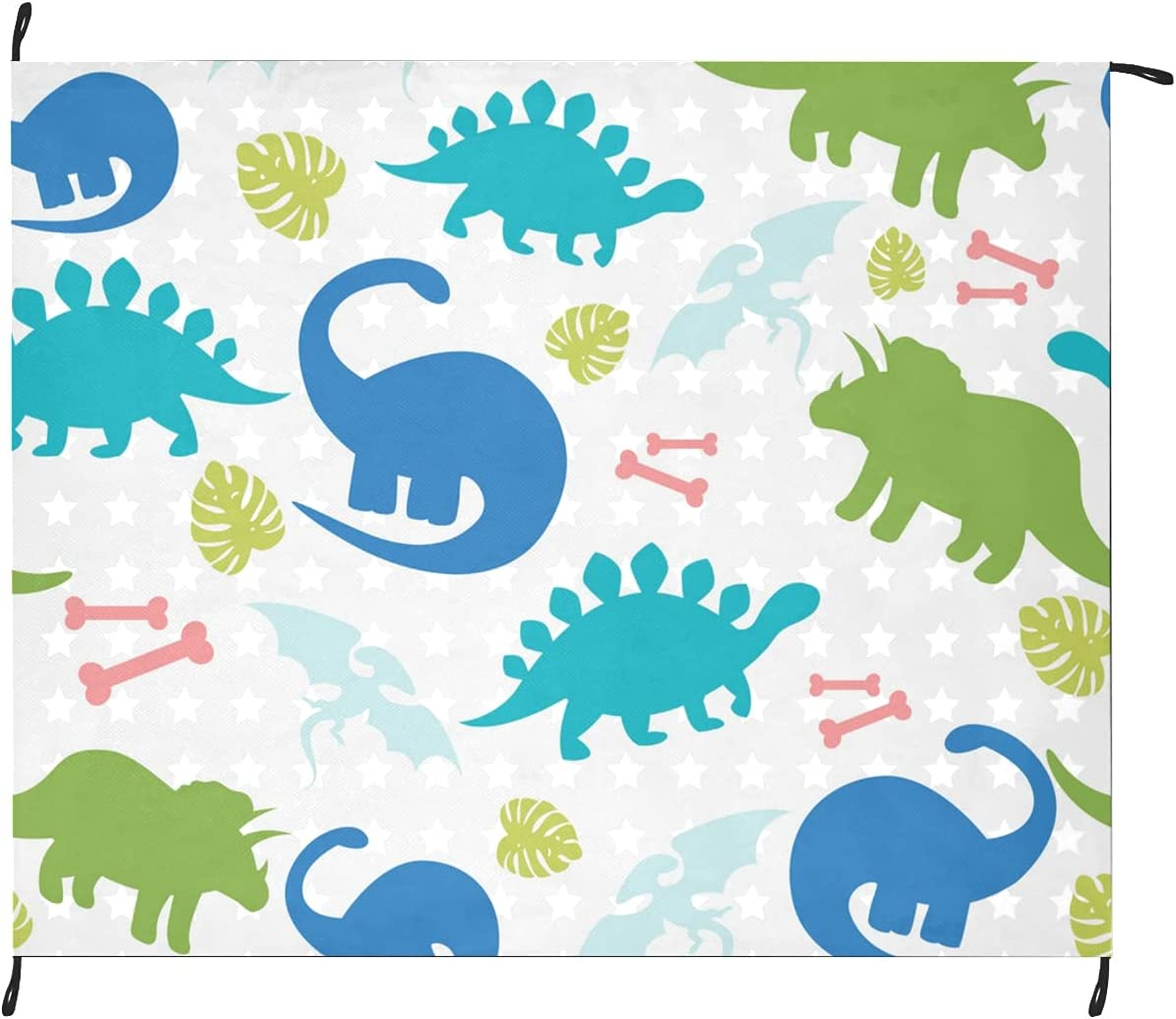 New Orleans Mall Max 64% OFF Baby Dinosaur Cute Cartoon Picnic Washable O Blankets Inch 69x55