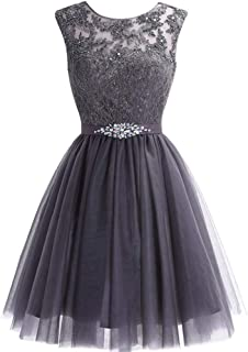Women's Short Tulle Homecoming Dresses Lace Prom Cocktail Party Gowns
