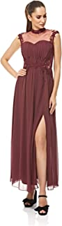 Little Mistress A Line Dress For Women - Burgundy S
