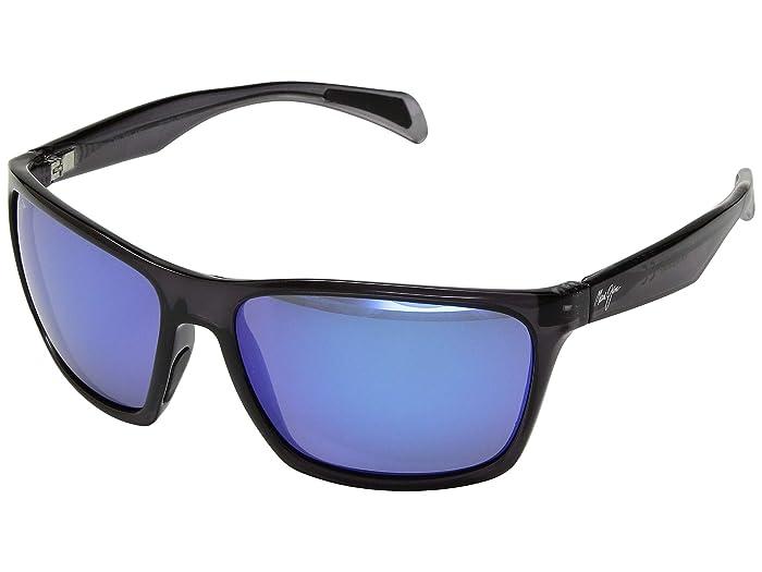 Maui Jim  Makoa (Dark Translucent Grey/Blue Hawaii) Fashion Sunglasses