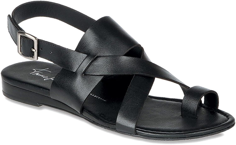 Franco Franco Sarto Woherren Gia schwarz Leather Sandal 10 M  Verkaufsstelle