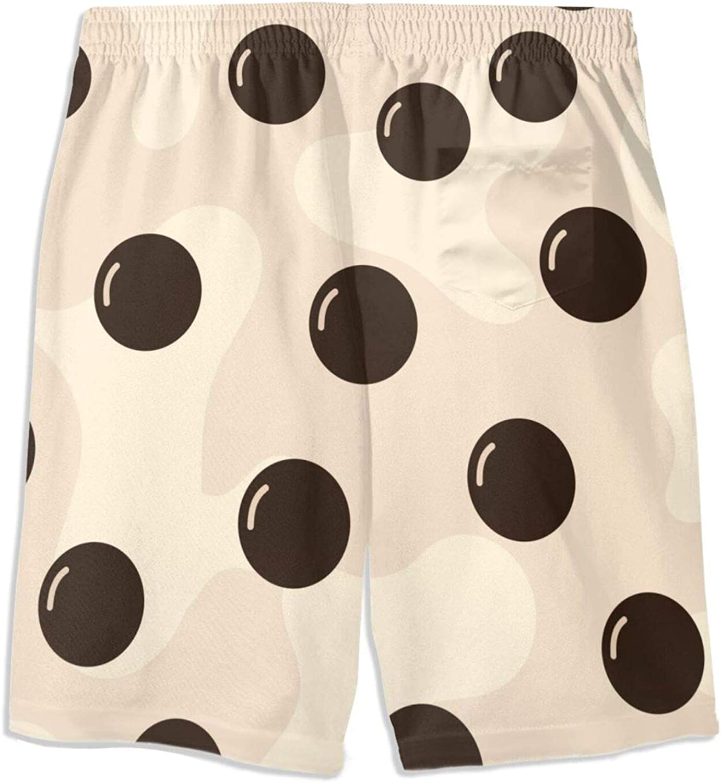 FuYin Bubble Milk Green Tea Boys Swim Trunks Quick Dry Beach Board Swim Shorts Swimsuit Swimwear from 7T to 18