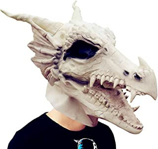 Costume Party Latex White Dragon Mask Decoration Halloween Party Novelty Props Supplier